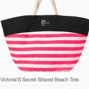 Victoria's Secret Striped Beach Tote Bag